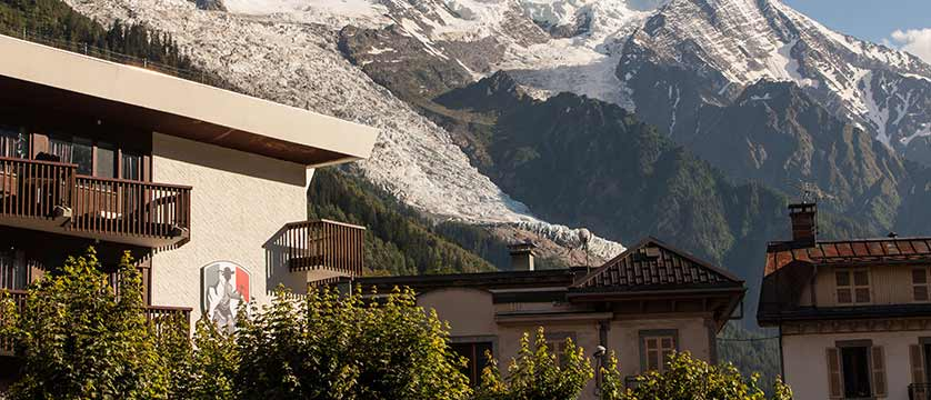 Hotel Pointe Isabelle, Chamonix, France - Exterior with Mont Blanc in background.jpg